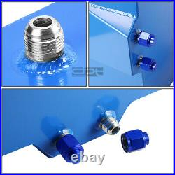 8 Gallon/30.5l Blue Aluminum Fuel Cell Gas Tank+level Sender+steel Oil Feed Kit