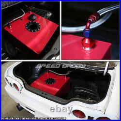 8 Gallon/30.5l Red Aluminum Fuel Cell Gas Tank+level Sender+nylon Fuel Line Kit