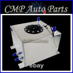 Aluminum 5 Gallons / 20 Liters Racing Drift Fuel Cell Surge Tank + Level Sender