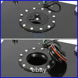 Black Coated Race Aluminum Fuel Gas Tank Cell+Level Sender 20 Gallon Universal