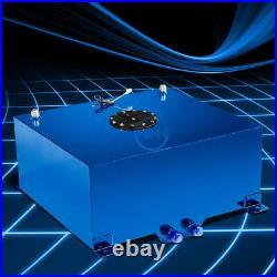 Blue Coated Race Aluminum Fuel Gas Tank Cell+Level Sender 20 Gallon Universal